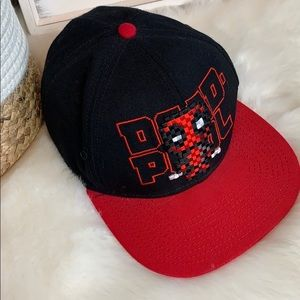 •DEAD-POOL• Marvel Black Red Trucker Snap Back Hat